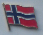 Norway Country Flag Enamel Pin Badge